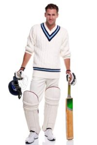 Cricketer portrait