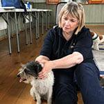Judith with dog
