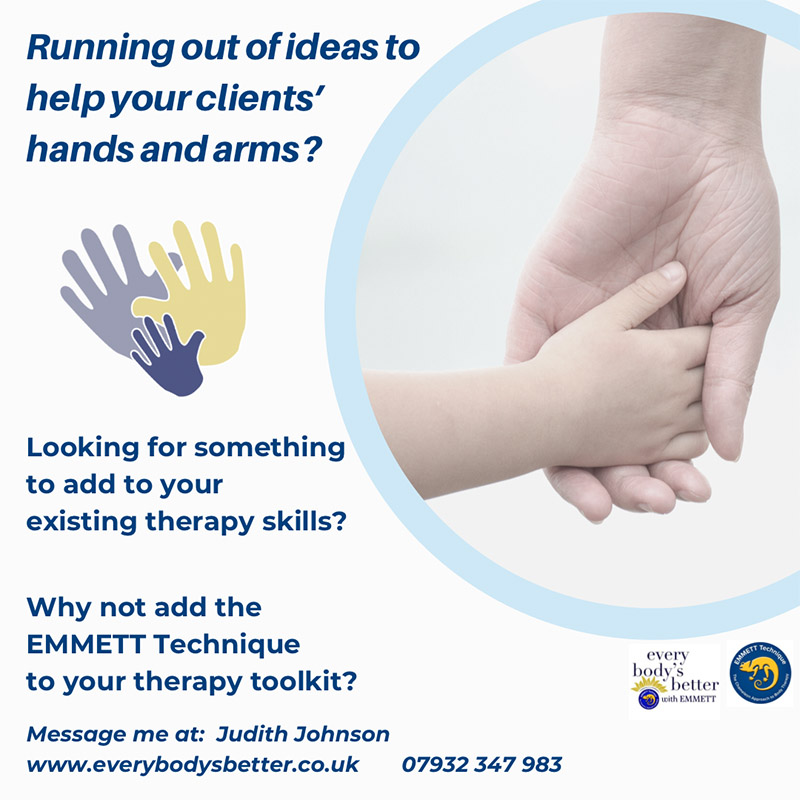 Running out of ideas to help your clients' hands and arms?